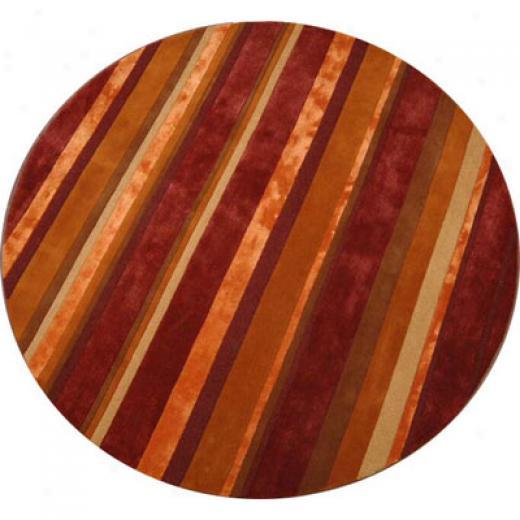 Radici Usa Elegance 8 Round Sangria Area Rugs
