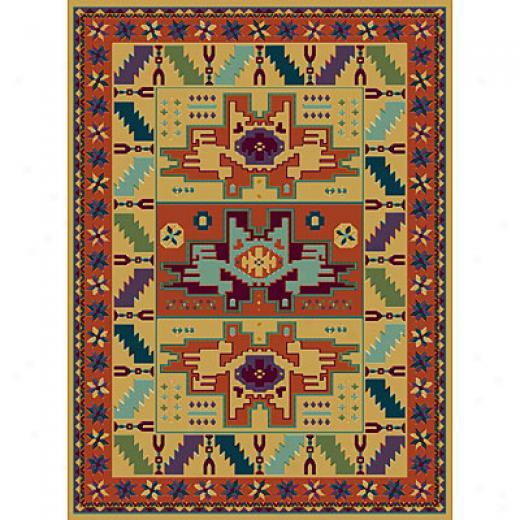 Radici Usa Multicolor V 2 X 8 Runner Creme Area Rugs