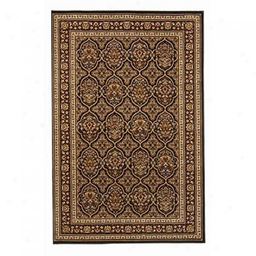 Radici Usa Noble V 5 X 8 Black Area Rugs