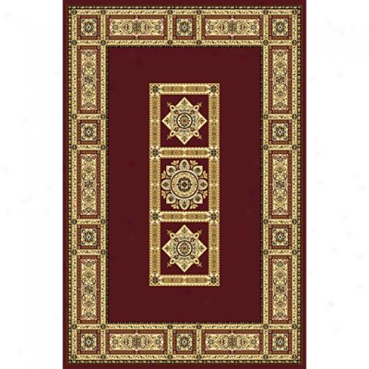 Radici Usa Plaza I 8 X 12 Burgundy Area Rugs