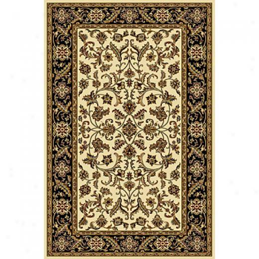 Radici Usa Plaza Iii 3 X 5 Black Area Rugs