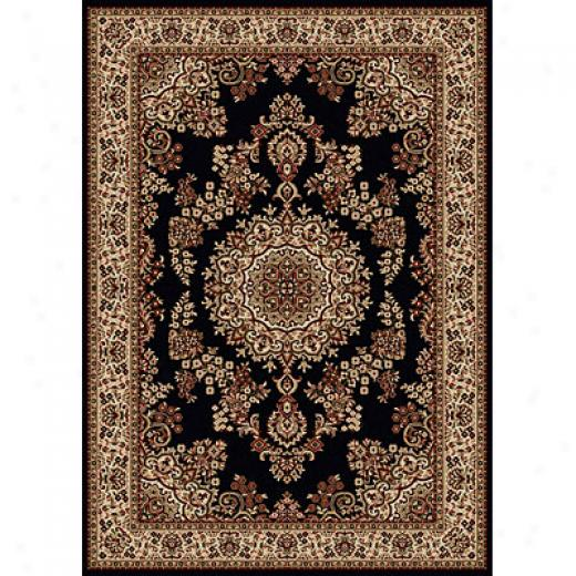Radici Usa Sofia  X3 X 5 Black Area Rugs