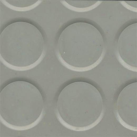 Roppe Rubber Tile 900 Series (raised Vantage Circular Design 996) Slate Rubber