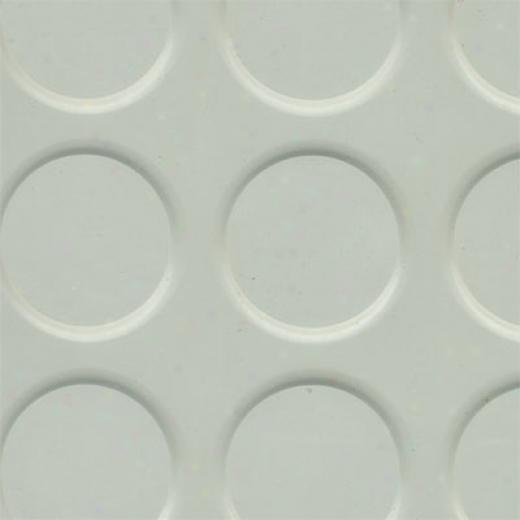 Roppe Rubber Tile 900 Series (raised Vantage Circular Design 996) Light Gray Rubber