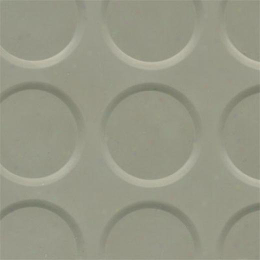 Roppe Rubber Tile 900 Serues (raised Vantage Circular Design 996) Pewter Caoutchouc