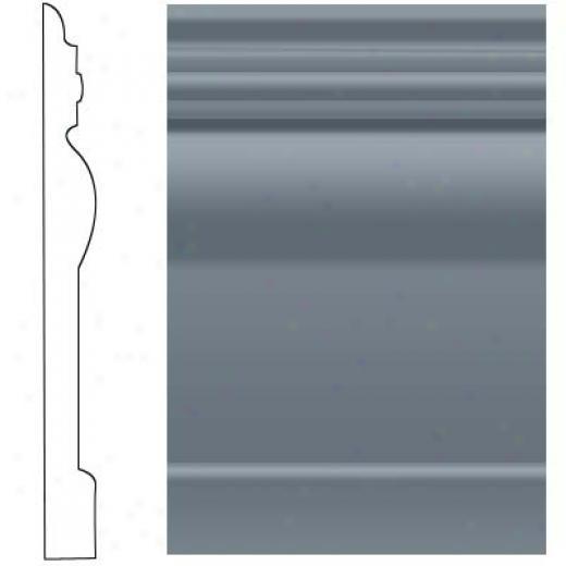 Roppe Visuelle Wall Base 7 3/4 Steel Blue Rubber