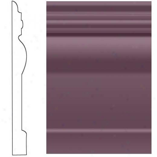 Roppe Visuelle Wall Base 4 1/2 Burgundy Rubber