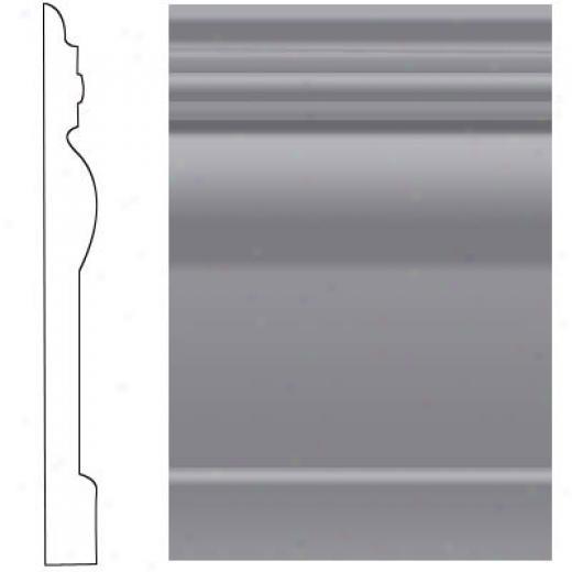 Roppe Visuelle Wall Base 7 3/4 Steel Gray Rubber
