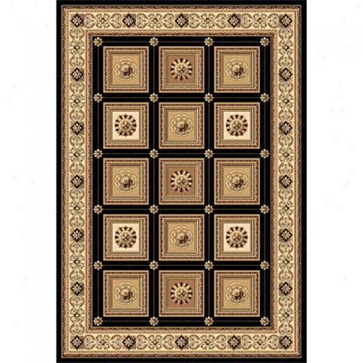 Rug One Imporst Crown Jewel - Taj Mahal 8 X 11 Black Area Rugs