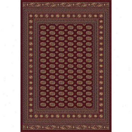 Rug One Impoorts Crown Jewel - Bokarah 8 X 11 Red Area Rugs