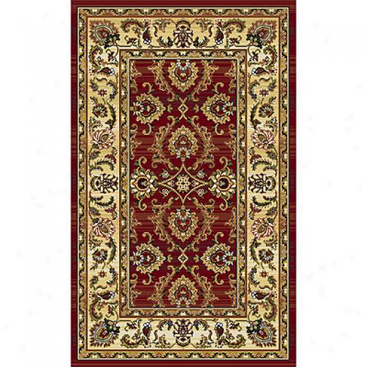 Rug One Imports Panacea 10 X 13 Red Area Rugs