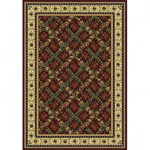 Rug One Imports Royal Bouqueet 8 X 11 Claret Area Rugs