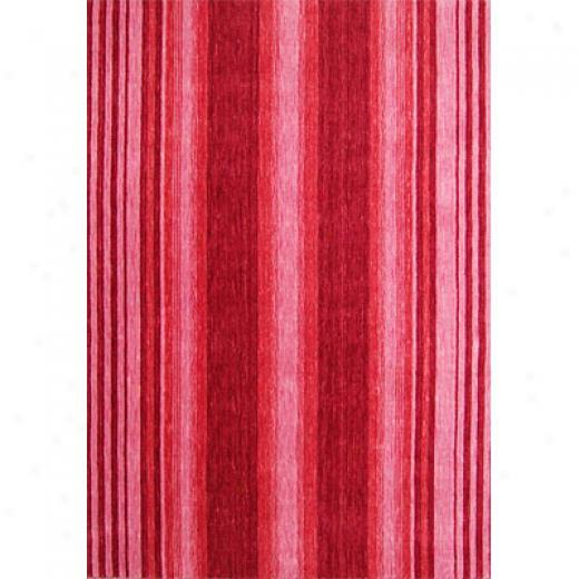 Rug One Imports Striations 5 X 7 Scarlet Area Rugs