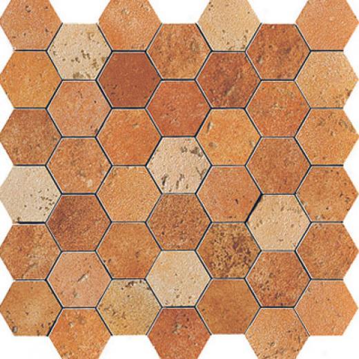 Serenissima Ceramics Quintana Hexagon Giostra Mosaic Scuro Tile & Stone