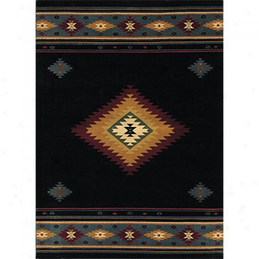 Sphinx By Oriental Weavers Taba 6 X 8 Taba Shiloh Black Area Rugs