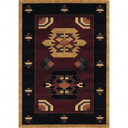 Sphinx By Oriental Weavers Taba 6 X 8 Taba Lakota Wine Mh Area Rugs