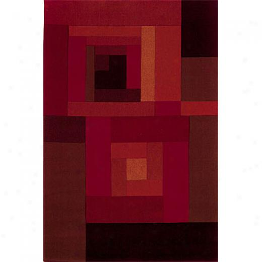 Sphinx By Oriental Weavers Lava 4 X 5 Red Area Rugs