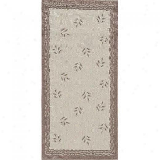 Stepco Patio Rugs 4.8 X 6.8 1302 Cream Brown Area Rugs