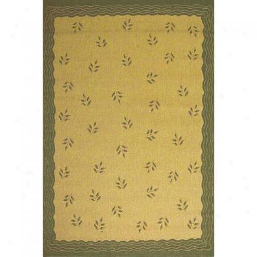Stepco Patio Rugs 6 X 9 1302 Cream Green Area Rugs