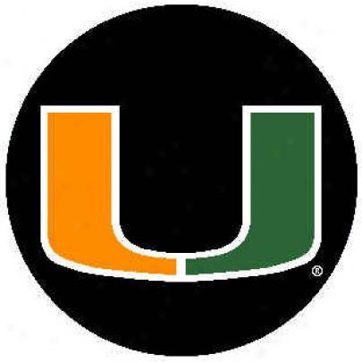 Strike Off Company, Inc Miami University Miami Round Rug 24