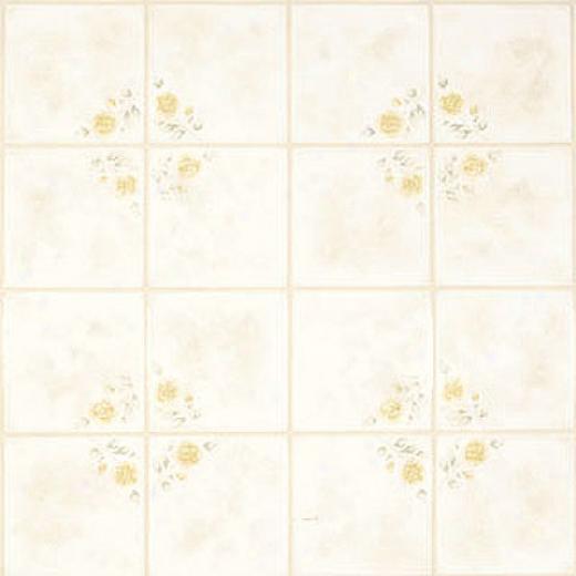 Tarkett Style Brite - Leonardos Rose 6 Flowery Yellow Vinyl Flooring
