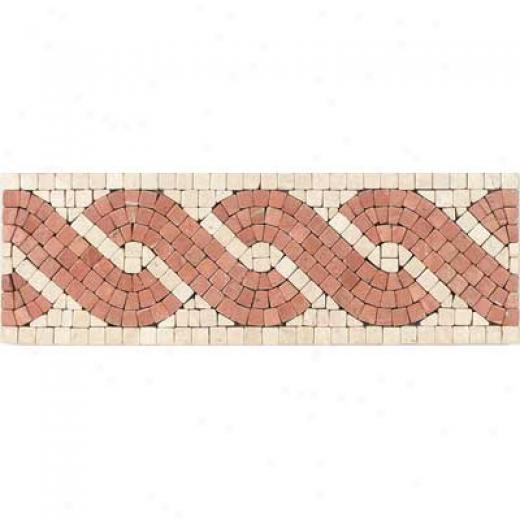 Tesoro Capri Listello Rosso Tile & Stone