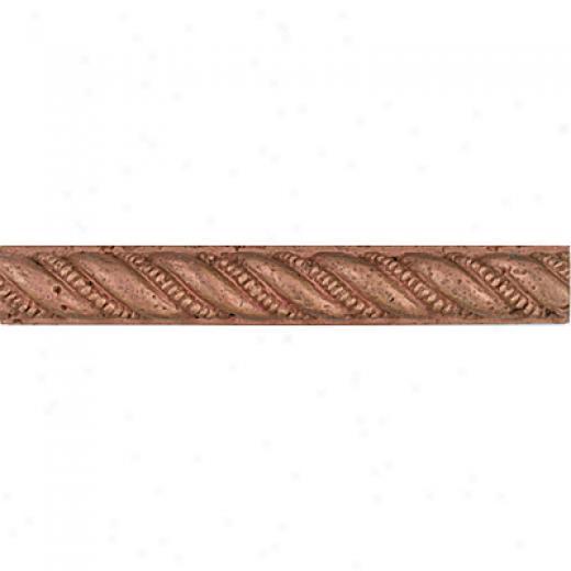 Tesoro Cordello Metallic Listello Copper Gold Tile & Stone