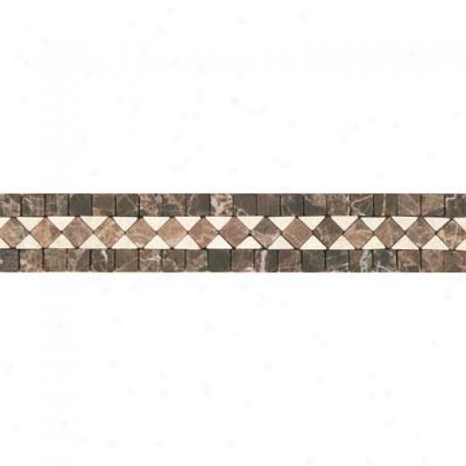 Tesoro Genova Listello Noce/beige Tile & Stone