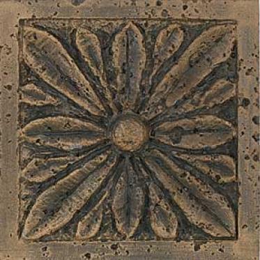Tesoro Lanceolata Tozzetto Iron Gold 4 X 4 Tile & Stone