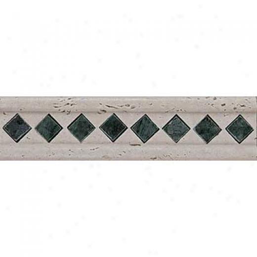 Tesoro Marble Listello/insertq Antique Verde Listello Tile & Adamant