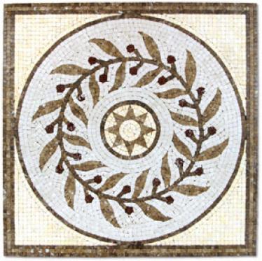 Tesoro Medallions Brunello Square Tile & Stone