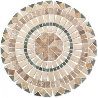 Tesoro Medallions Round Star 515 Tile & Stone