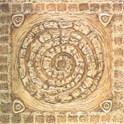 Tilecrest Fauxstone Resin Decos Deco Circle Camel Tile & Stone