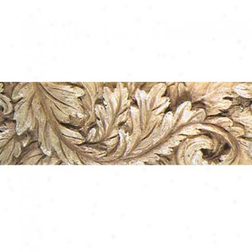 Tilecrest Fauxstone Resin Linsrs Listello Leaf Walnut Tile & Stone