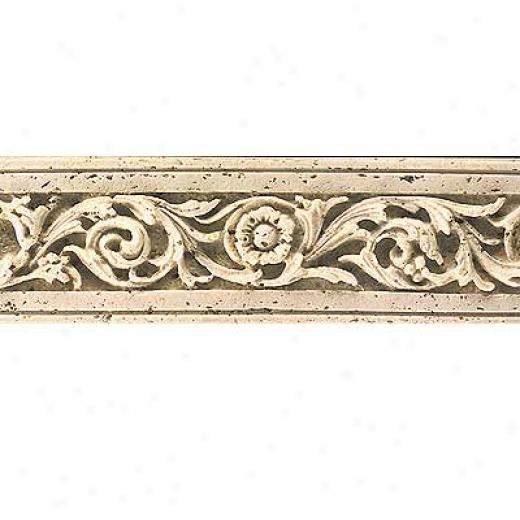 Tilecrest Fauxstone Resin Liners Flower-like Listello Beige Tile & Stone