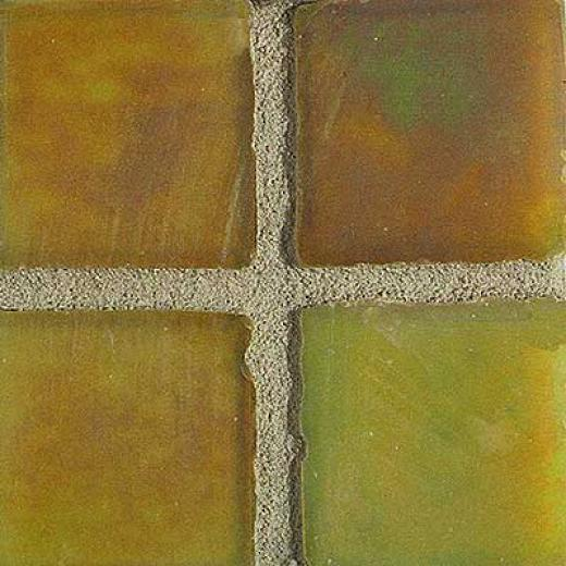 Tilecrest Lustre Series Distressed Edge Mosaic Yellow Gold Gloomy Tile & Stone
