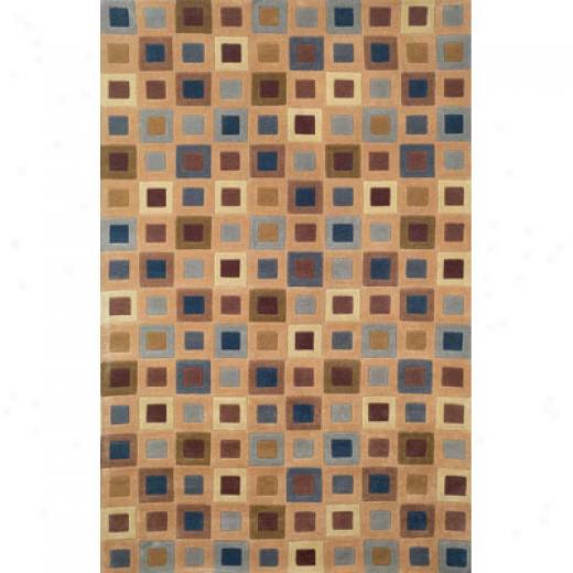 Trans-ocean Import Co. Amaifi 2 X 3 Square In Square Blue Area Rugs