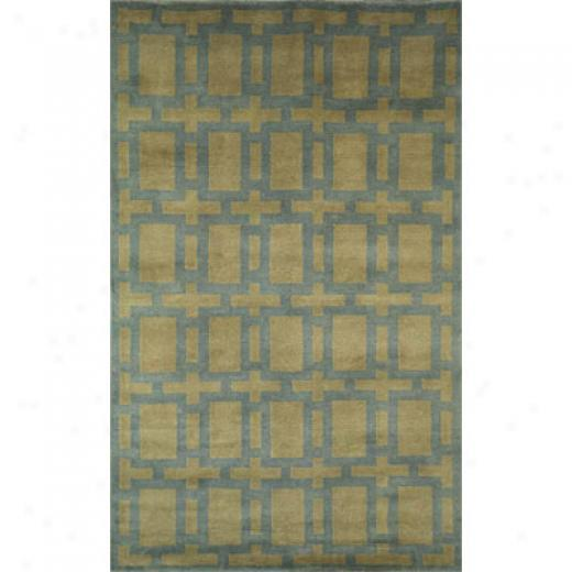 Trans-ocean Import Co. Acradia 4 X 6 Tile Aqua Area Rugs