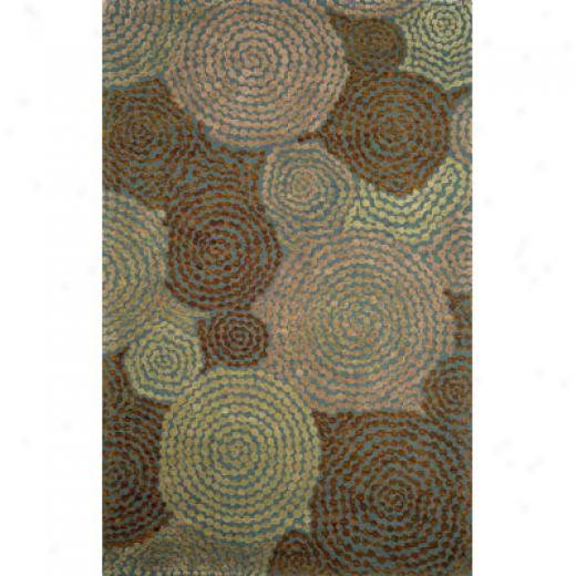 Trans-ocean Import Co. Barcelona 5 X 8 Spiral Teal Area Rugs