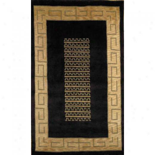 Trans-ocean Import Co. hButan 10 X 14 Key Border Black Area Rugs