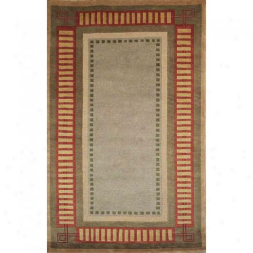 Trans-ocean Import Co. Bhutan 10 X 14 Modern Border Cinnabar Area Rugs