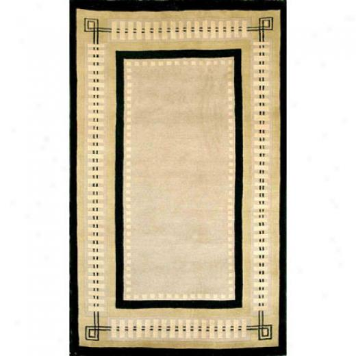 Trans-ocean Import Co. Bhutan 8 X 11 Modern Border Black Area Rugs