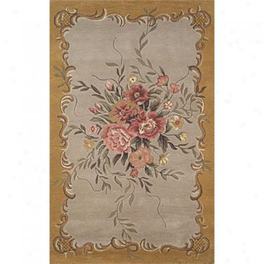 Tranns-ocean Import Co. Kyoto 9 X 12 Aubusson Yellow Area Rugs