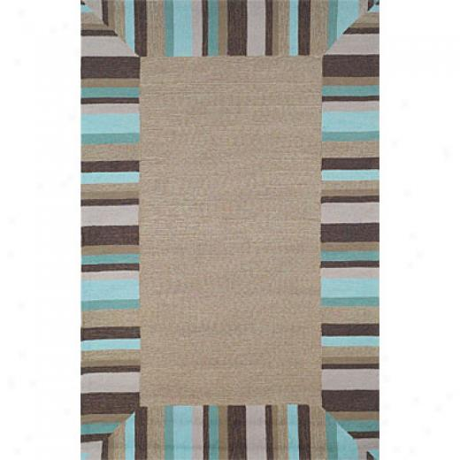 Trans-ocean Import Co. Lido 5 X 8 Beach Comber Bordr Surf Area Rugs