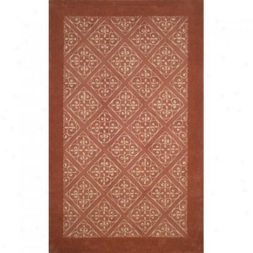 Trans-ocean Import Co. Lyon 5 X 7 Diamond Grille Coral Area Rugs