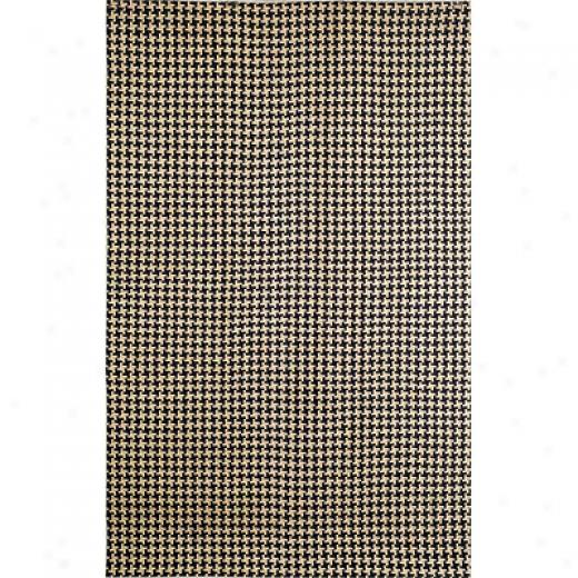 Trans-ocean Import Co. Matera 2 X 3 Hounds Tooth Black Area Rugs