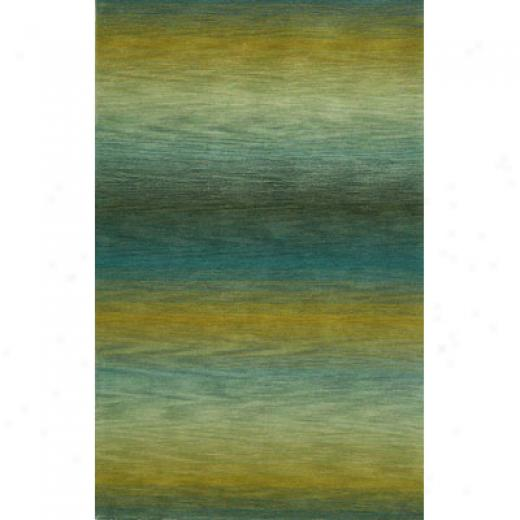 Trans-ocean Imply Co. Ombre 2 X 8 Runner Surf Blue Area Rugs