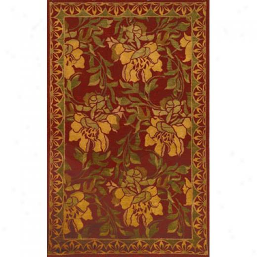 Trans-ocean Import Co. Petra 5 X 8 Blossom Red Area Rugs