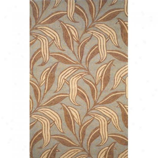 Trans-ocean Import Co. Ravella 8 X 10 Leaf Driftwood Area Rugs