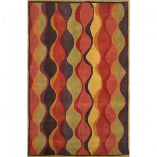 Trans-ocean Import Co. Sauara 5 X 8 Ogee Cerry Area Rugs